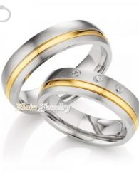 Cincin Kawin Rabiya Emas Putih 40% dan Perak 925