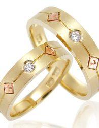 Cincin Kawin Emas Kuning 40% dan Perak 925