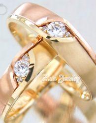 Cincin Kawin Emas Kuning 91% dan Perak 925