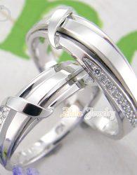 Cincin Kawin Sepasnag Emas Putih Kadar 50%