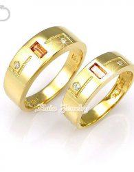 Cincin Kawin Emas Kuning 75% dan Palladium 50%